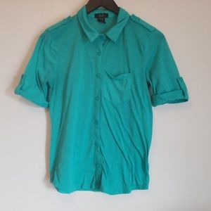 Comfy Green button up shirt